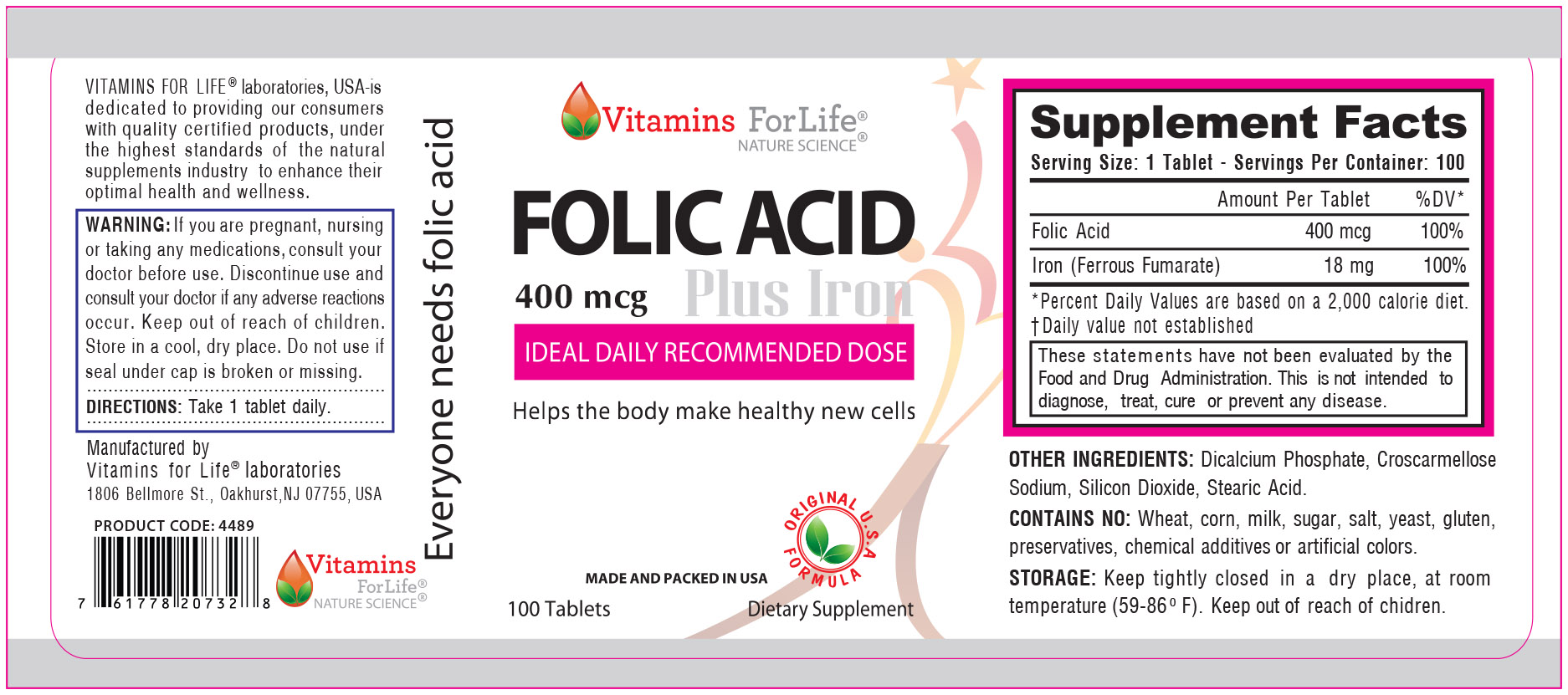 LABEL FOLIC ACID Plus Iron